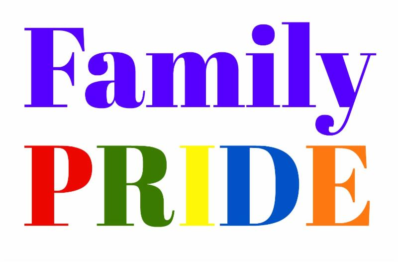 Family PRIDE in rainbow colors