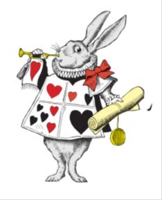 Alix in Wonderland rabbit