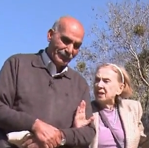 image from the movie -- man and elderly woman