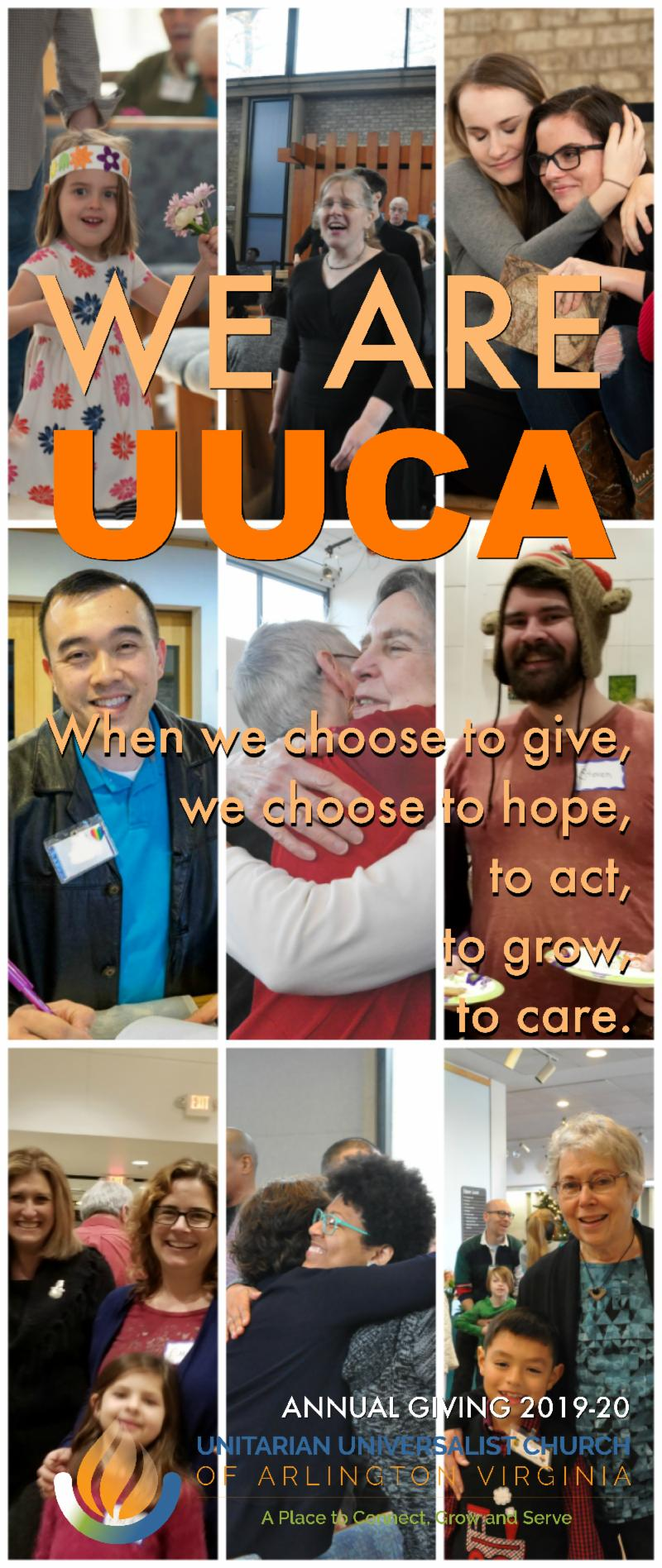 WE ARE UUCA - annual giving poster