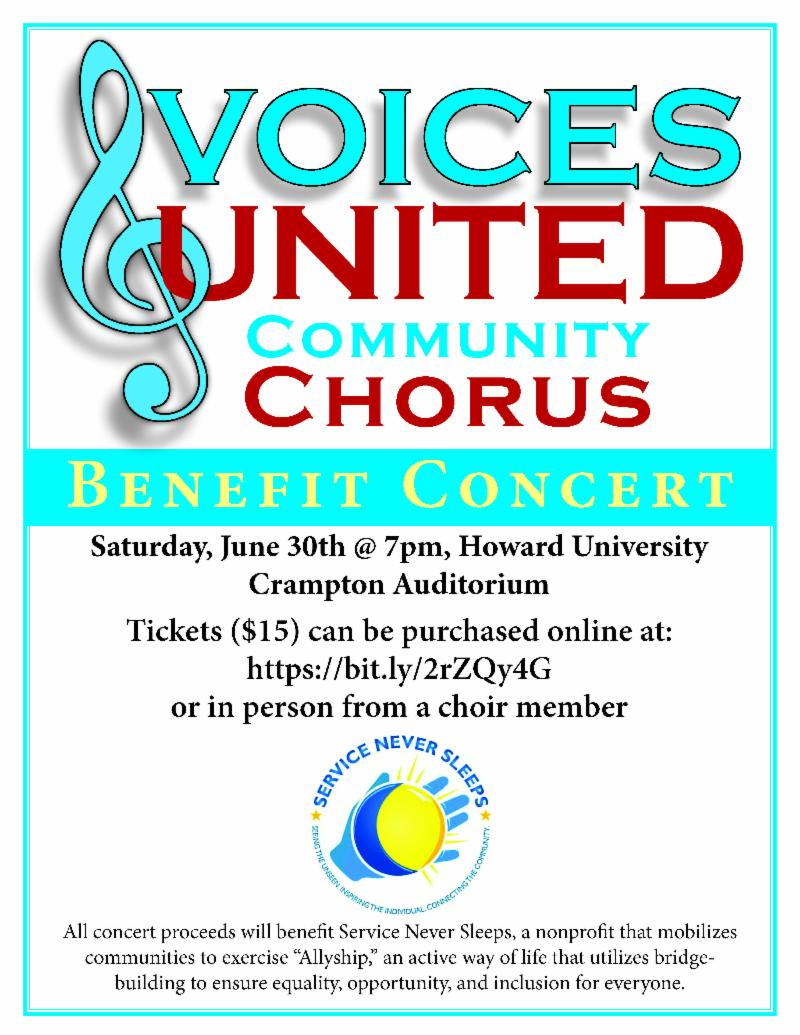 Voices United concert poster
