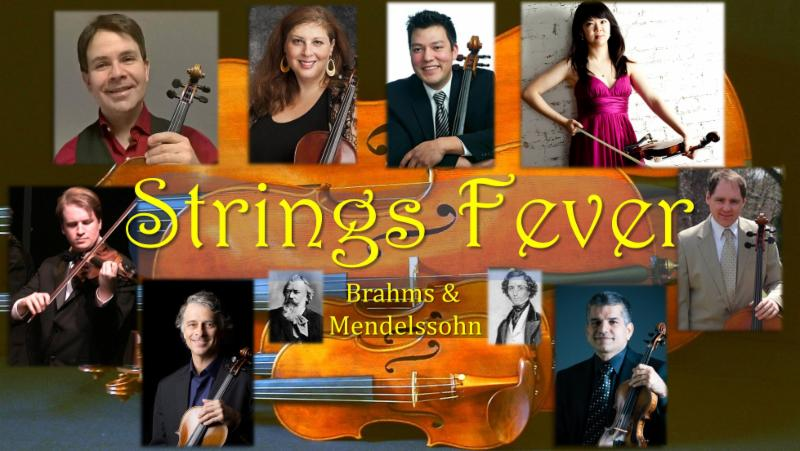 Strings Fever concert flyer