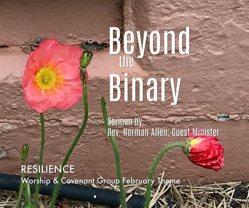 Beyond the Binary Sermon by Rev. Norman Allen