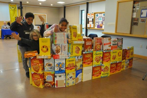 Y9ers w/ wall of cereal