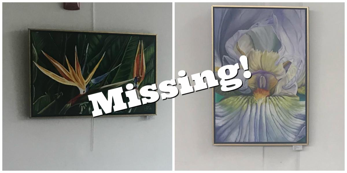 image of two missing paintings