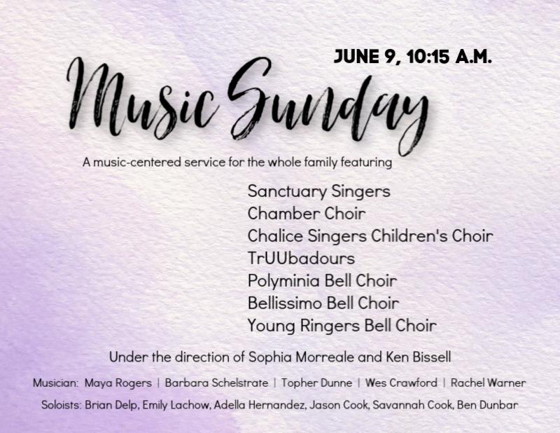 Music Sunday - June 9, 10:15 a.m.