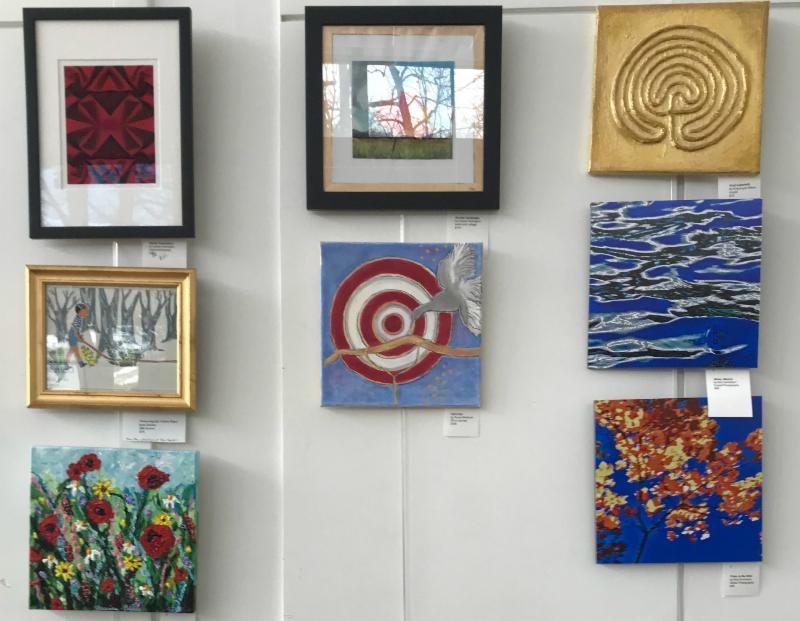 photo of 12x12 art display