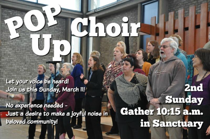 POP UP Choir flyer