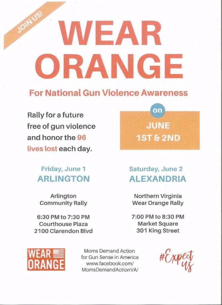 Wear Orange flyer - June 1 & 2