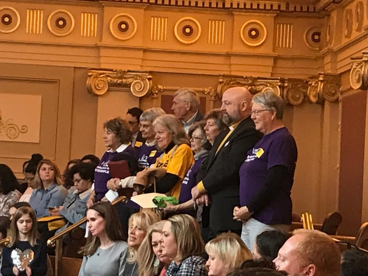UUCA and VOICE contingent in Virginia house in Richmond