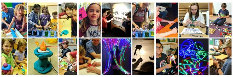 Maker Night photo collage