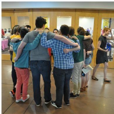 Youth huddle image