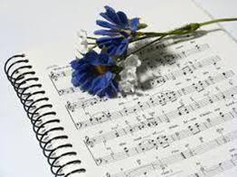 image of music sheet w/ flower