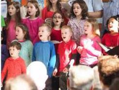 kid choir singing photo