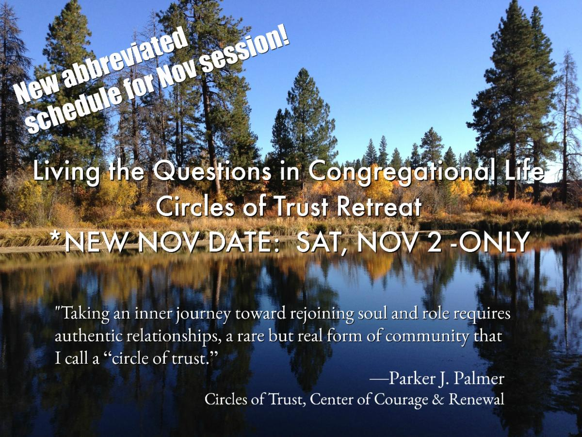 Living the Questions Circles of Trust Retreat - Nov 2 ONLY
