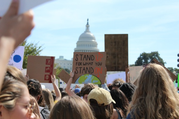 Climate Strikers in front of Capitol Building