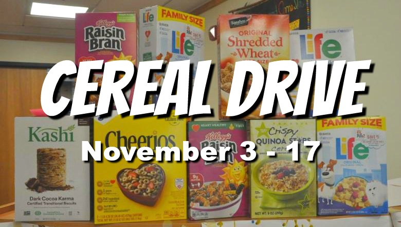 photo of stack of cereal - CEREAL DRIVE