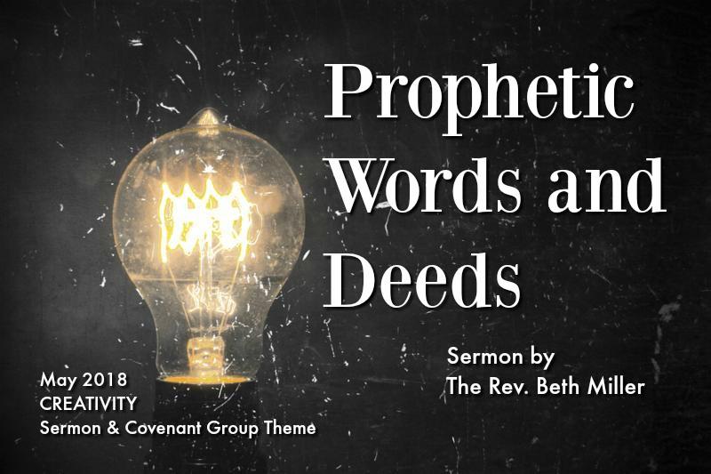 Prophetic Words & Deeds - text w/ light bulb image