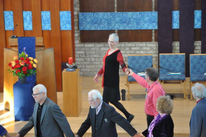 Diane leading a dance
