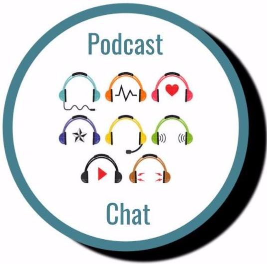 Podcast image with headsets