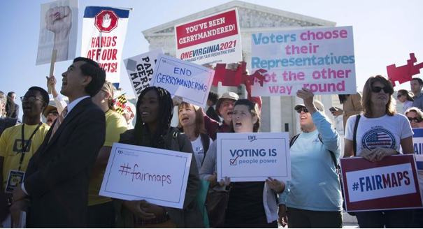 Gerrymandering rally at SCOTUS