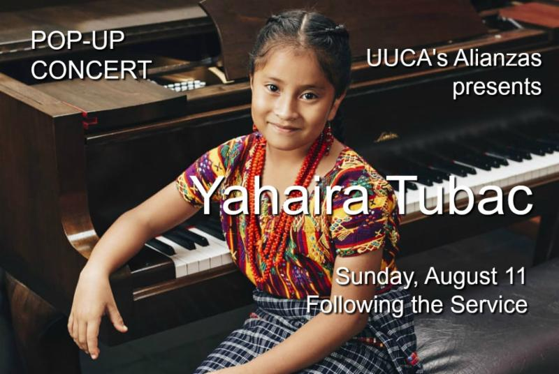 Yahaira Tubac at piano photo
