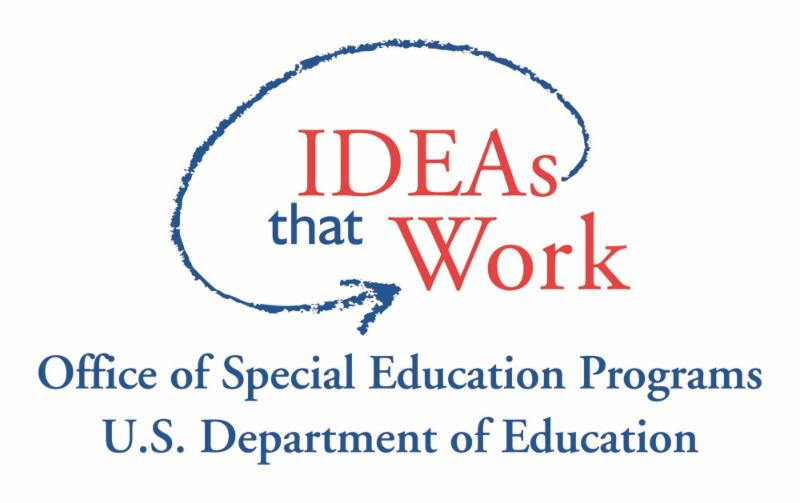 Office of Sepcial Educaiton Programs U.S. Department of Education log. IDEAs that Works circled with an arrow.