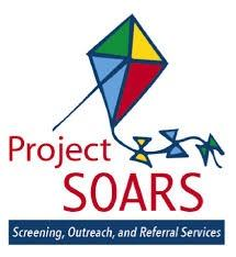 Project SOARS logo. Multi-colored kite above text.