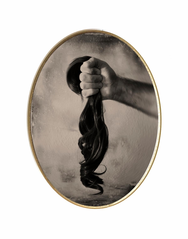 holding hair