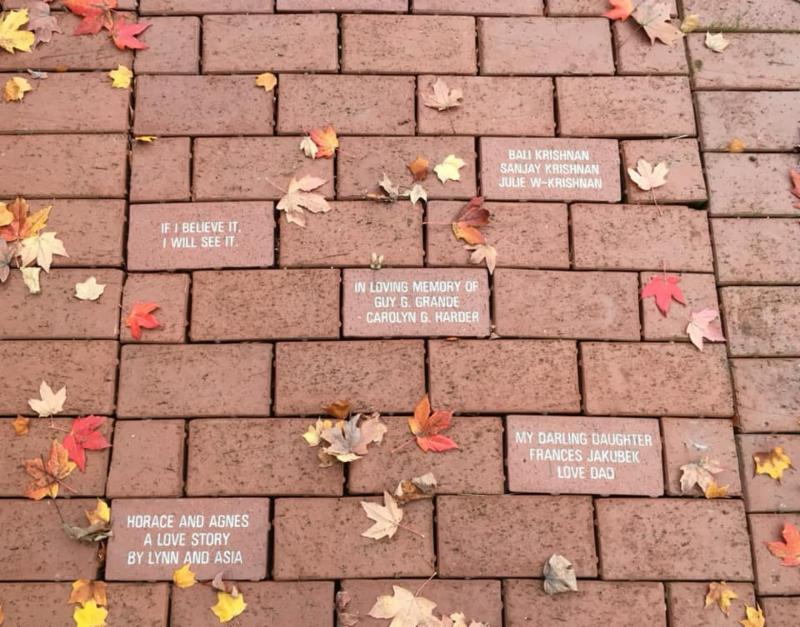 Griffin Brick Walkway