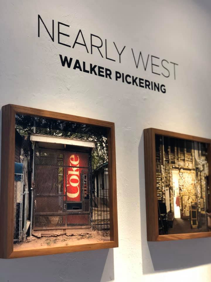 installation of Walker Pickering's photographs