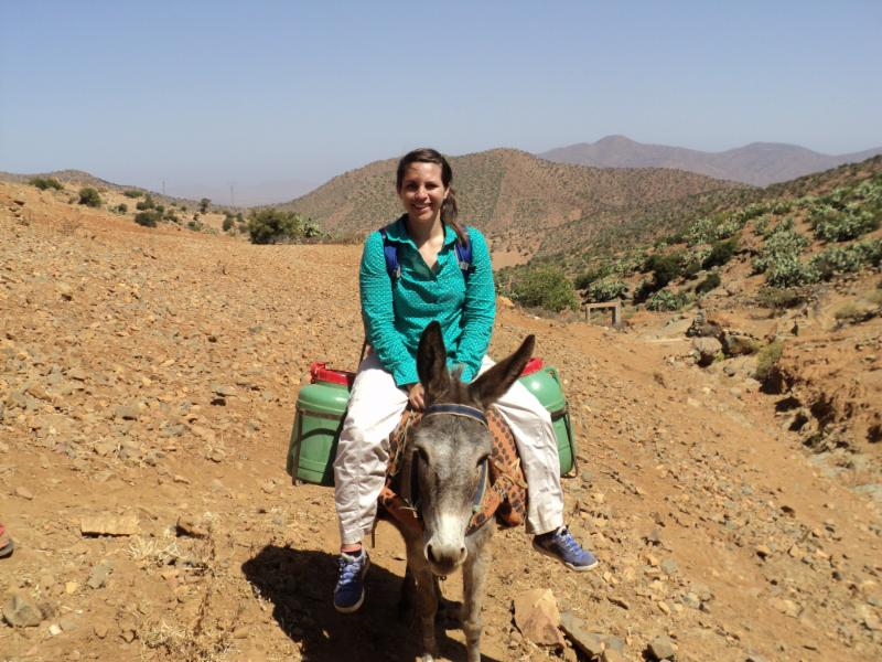 Jeanette in Morocco during her practicum. 2014