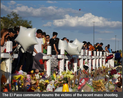 Photo of Mourners for El Paso Mass Shooting Victims