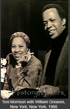 Photo of Toni Morrison with William Greaves