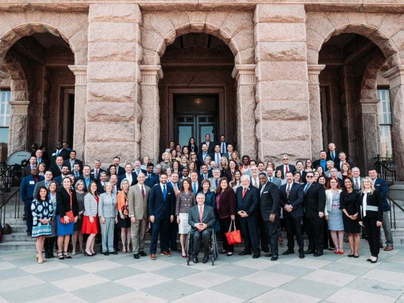 Official Photo with Governor Abbott
