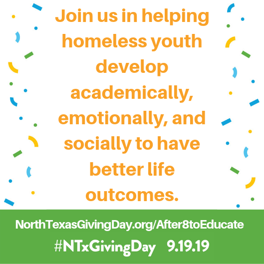 Join us in helping homeless youth develo academically emotionally and socially to have better life outcomes