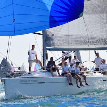 Sailing at Cowes - the home of world yachting