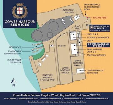 Cowes Harbour Services Kingston Wharf site plan
