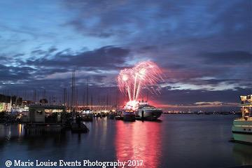 Cowes Week Fireworks from Shepards Marina