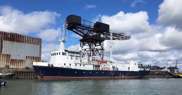 MV Sea Trident  60m LOA + 3.6m draught