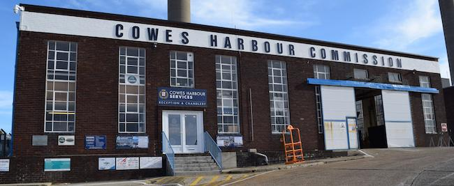 Cowes Harbour Commission lettering at CHS Kingston