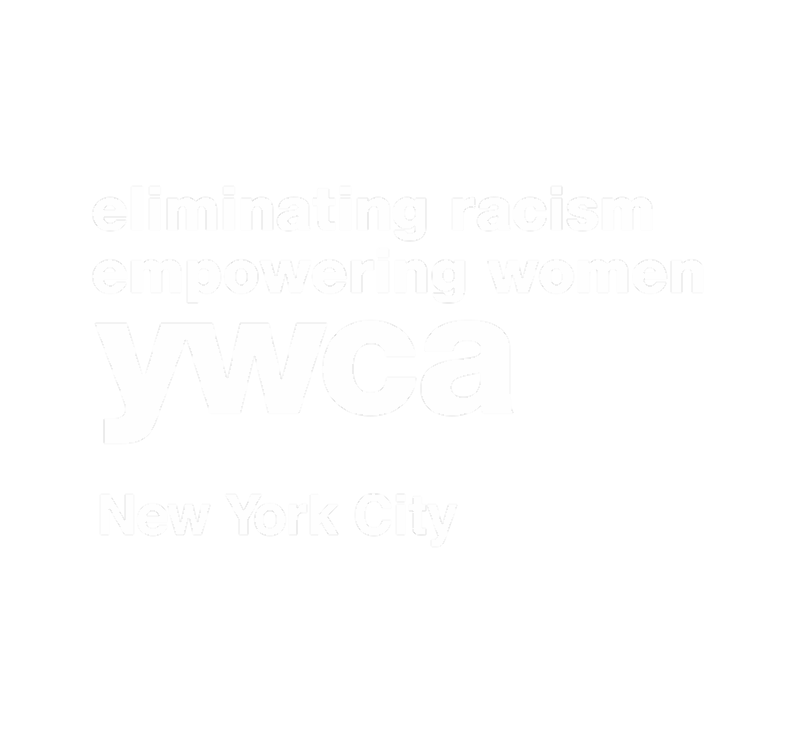 This is the white YW logo that says eliminating racism and empowering women