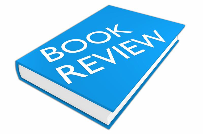 3D illustration of  BOOK REVIEW  script on a book isolated on white.