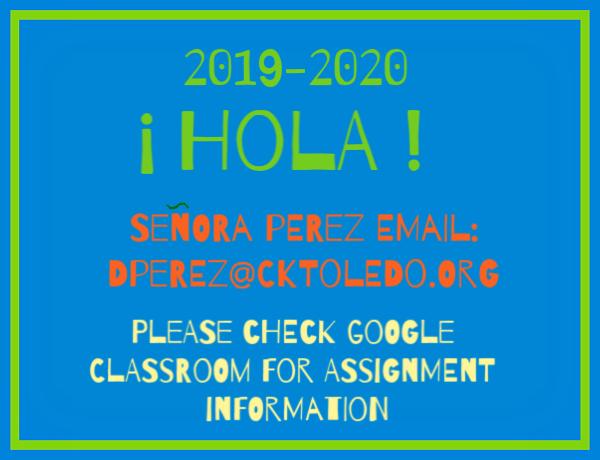 2019 2020 Spanish class information
