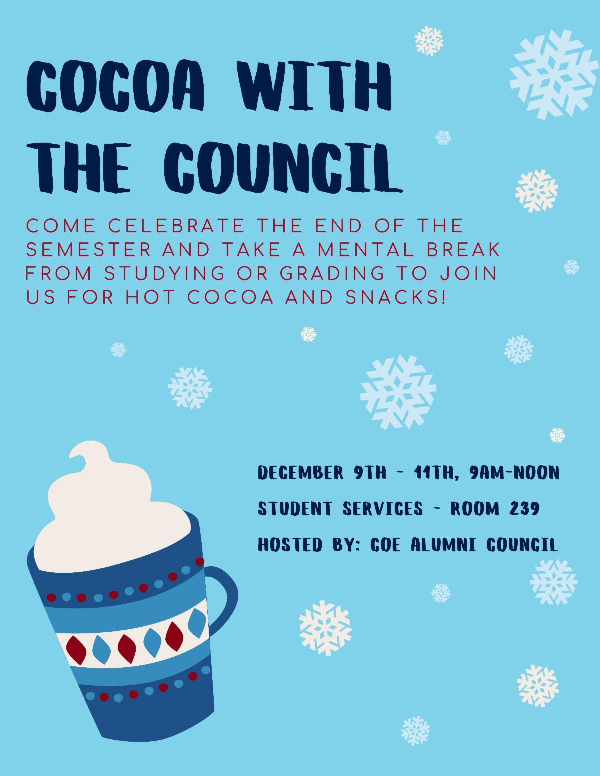 Hot Cocoa event