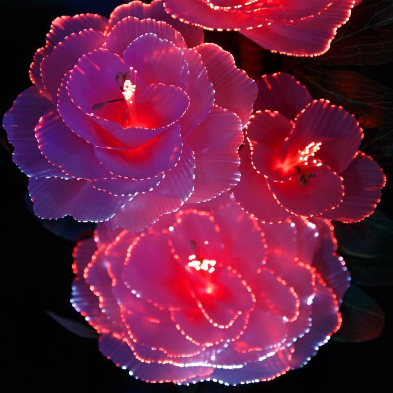 metal flower lights