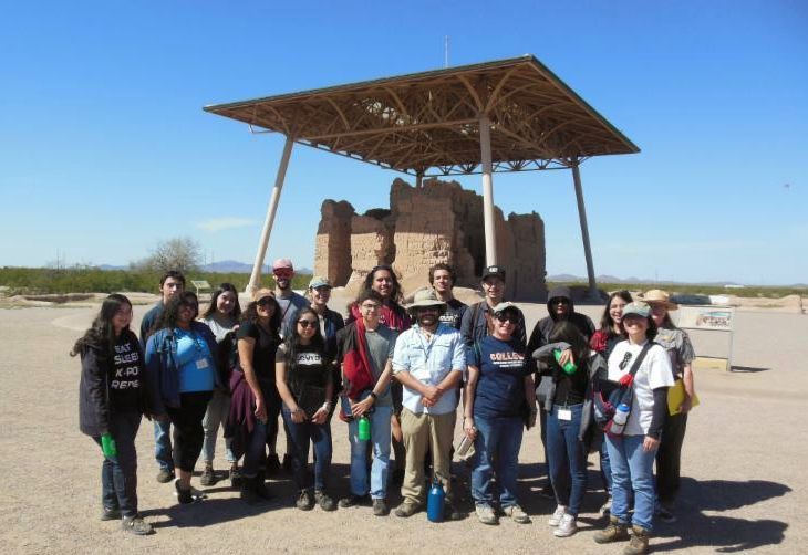 Linking Southwest Heritage Through Archaelogy group photo at Casa Grande Ruins National Monument