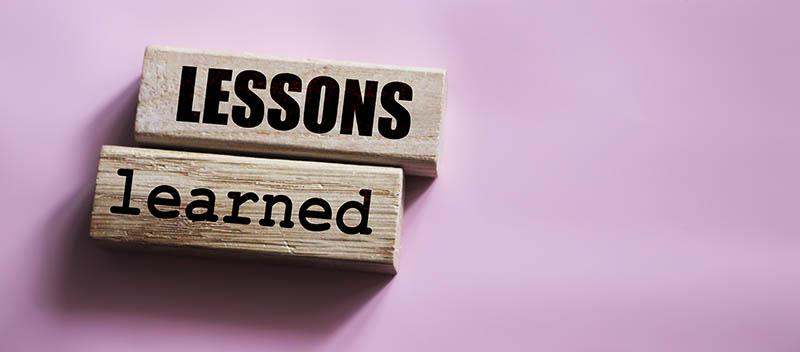 lessons learned graphic