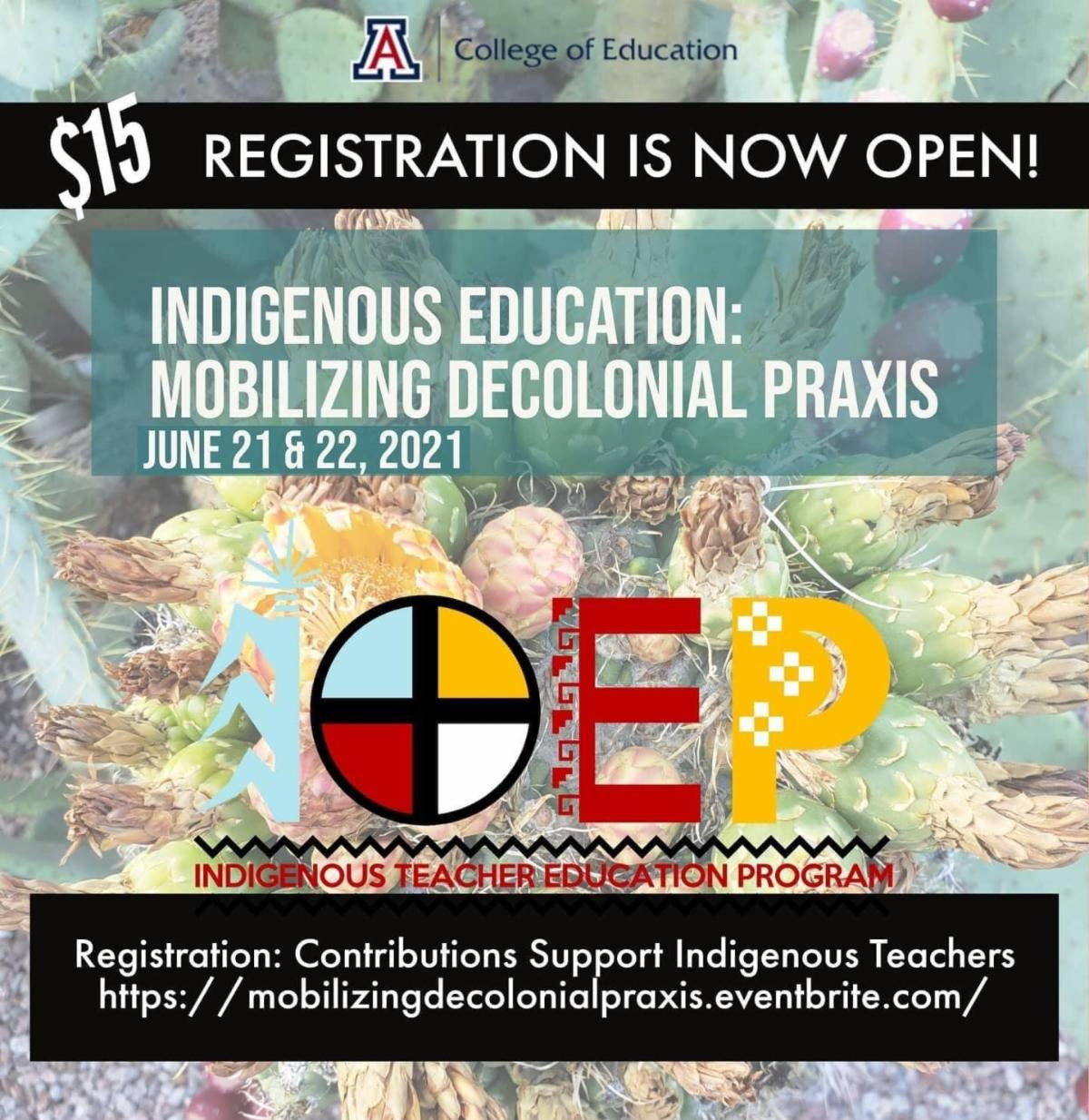 ITEP Conference Indigenous Education Mobilizing Decolonial Praxis poster