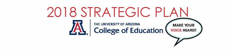 college logo with words strategic plan